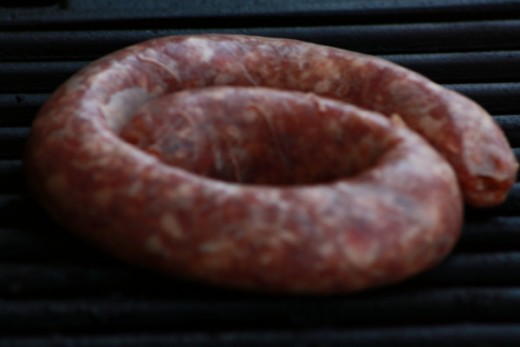 The Traditional Layout of the 1 Foot of Boerewors