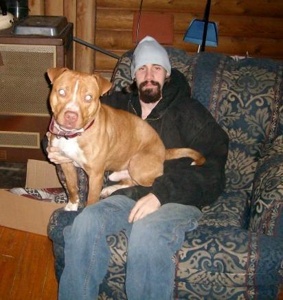 Bowser loved my boyfriend Tim. He was a big Daddy's boy.