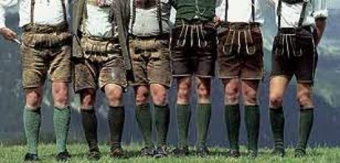 Hubpages Staff --- save the day --- ready to show off their Lederhosen Can-Can