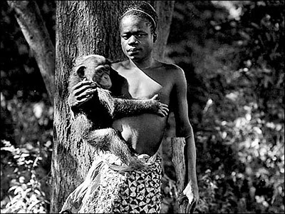 Ota Benga was put on display in the zoo as the 'missing link' in order to convince people of Darwinism. http://www.answersingenesis.org/creation/v16/i1/otabenga.asp