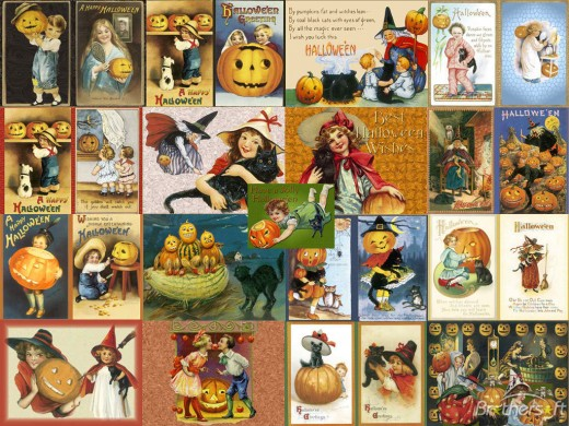 An Old-Fashioned Halloween Greeting cards