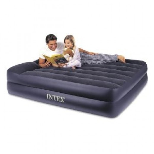 Intex Pillow Rest Queen Airbed with Built-in Electric Pump