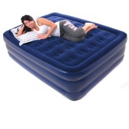 Smart Air Beds Elevated Supreme Coil Beam Flocked Top Raised Queen Size Inflatable Mattress (Best)