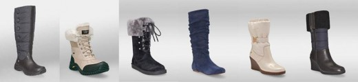 From left to right: Lonnie, Adirondack Boots, Montclair, Abilene, Cassady, Leona