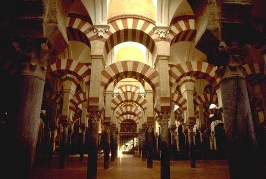 Mezquita, Cordoba, Spain. Photo courtesy of Wikipedia.