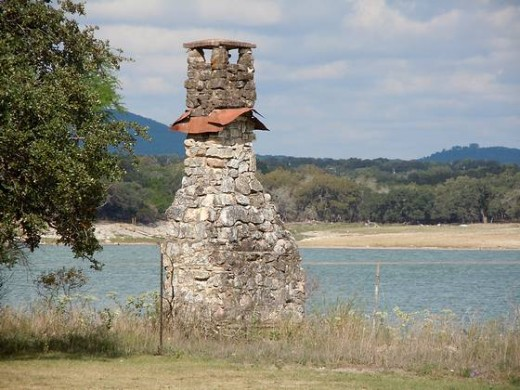 Old Home Chimney on Lake edge