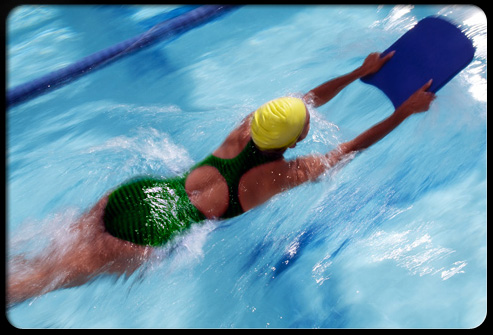 Swimming is a great cardio exercise to build muscles and condition joints