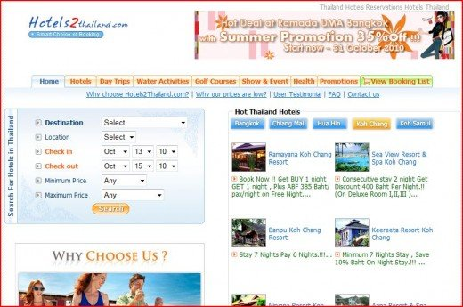 Hotels2Thailand.com Website