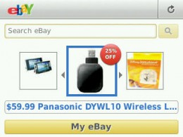 Browsing on the eBay app.