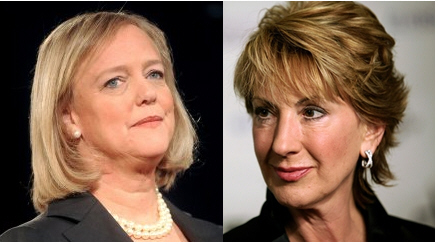 Meg Whitman and Carly Fiorina