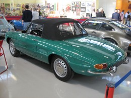 An Alfa Romeo Spider 'Duetto' showing the 'boat-tail' rear end - a public domain image