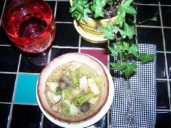 Easy Leftover Baked Potato Chicken Soup, Hot Healthy Winter Soup Recipe.