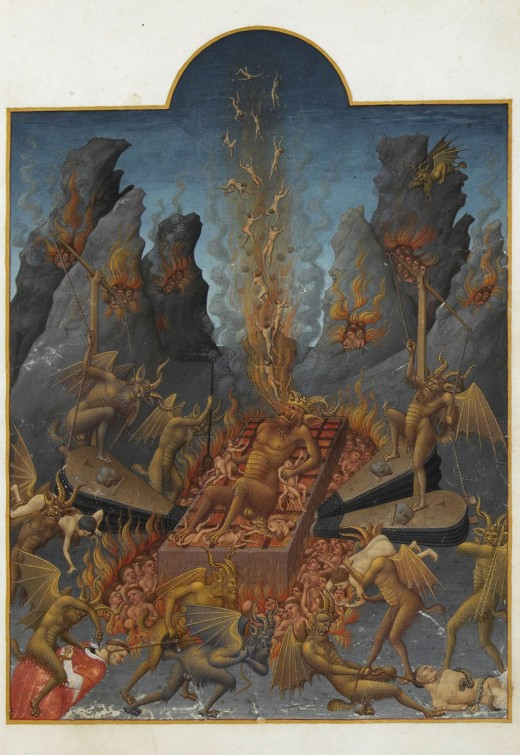 Hell (Les Tres Riches Heures du Duc de Berry, folio 108r; 15th century)
