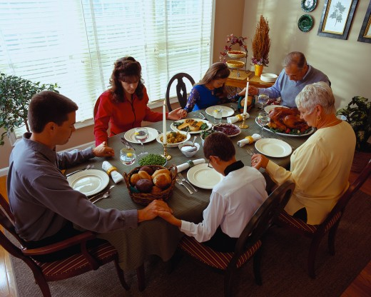 Attending two Thanksgiving dinners can be stressful for children of divorce.