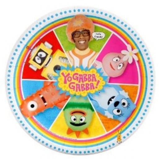 Unique Yo Gabba Gabba! colorful plates for party guests.
