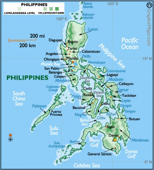Map of the Philippines (Photo Credit: http://www.worldmapnow.com/)