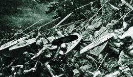 Depiction of battle