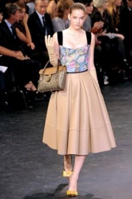 Louis Vuitton re-imagines the full skirt.