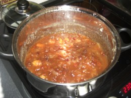 the chutney ready to bottle