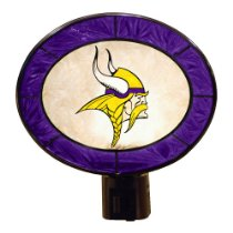 Night light with Viking surrounding by purple