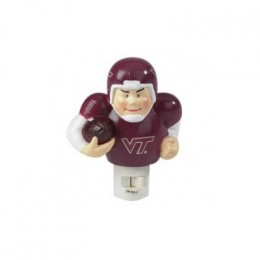 football night light with player holding a football and wearing a football helmet