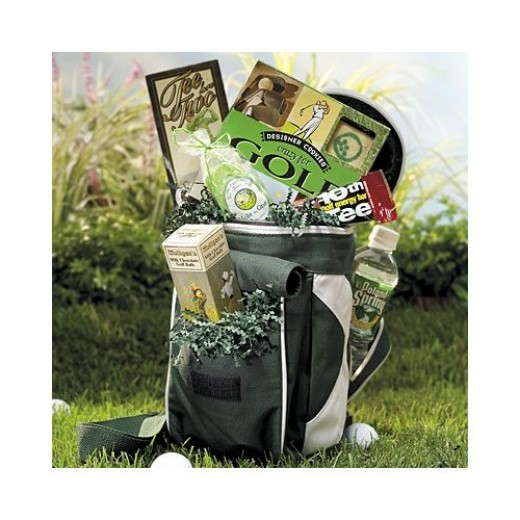 This golf gift basket is an actual quality made mini cooler that be used in the future again and again.