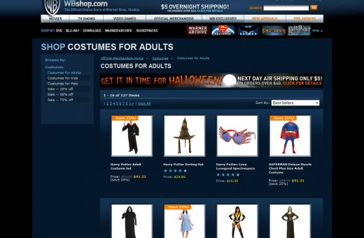 Last Minute halloween Costumes with overnight shipping