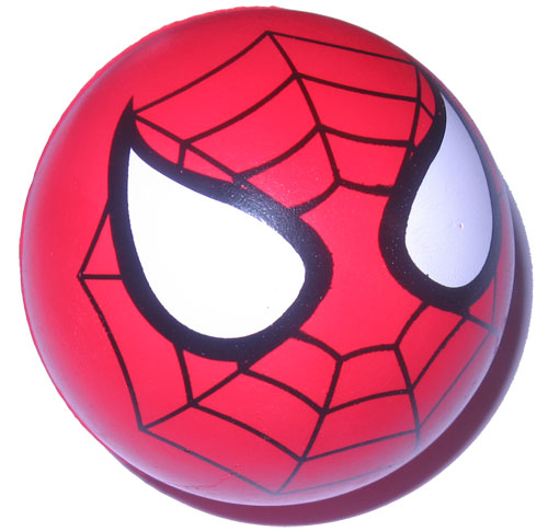 A Spider Man Bouncy Ball.