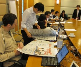 A hands-on activity at the Social Media Workshop, Singapore