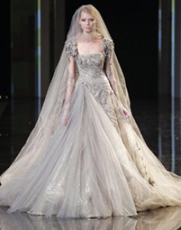 Elie saab's latest collection of bridal wear.