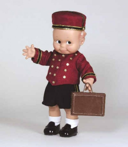 Bell Boy Doll in Red Uniform