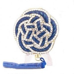 China Blue Love Knot Crystal Estee Lauder Lucidity Powder Compact