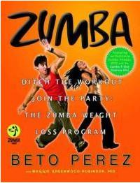 Zumba Fitness Latin Dance Exercise Workout Book & DVD