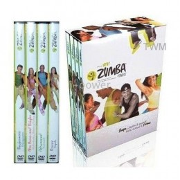 zumba Workout 4 DVDs Latin Dance Fitness Set