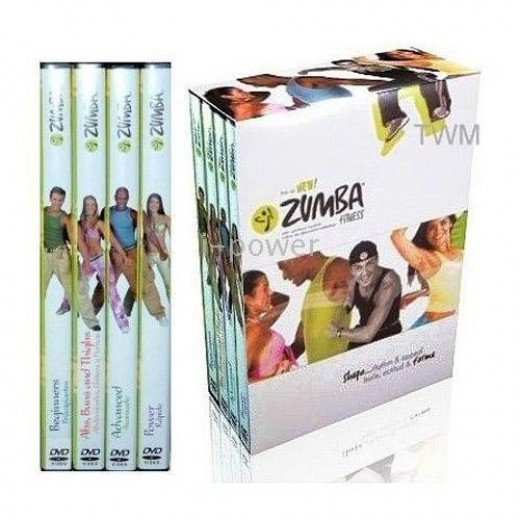 zumba Workout 4 DVDs Latin Dance Fitness Set
