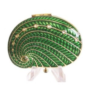 Shore Things Green Shell Estee Lauder Lucidity Powder Compact
