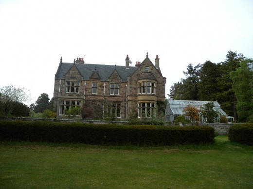 Newbold House from the front lawn.
