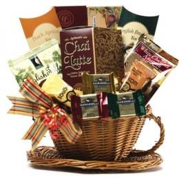 Buy this elegant tea gift basket at a very price.