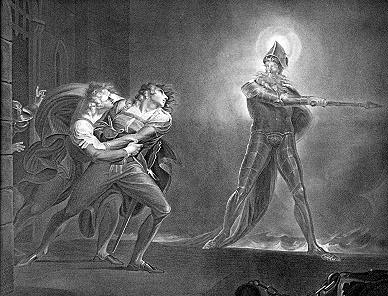 "Henry Fuseli's ""Hamlet and the Ghost"" (1789)."