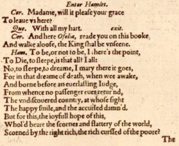 A selection from the text of the play.