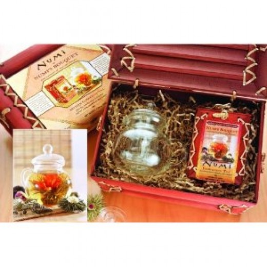Buy a flowering tea gift set - one of the big sellers on Amazon.com