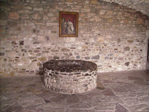 Well in the French Castle of Old Ft. Niagara where the body of the slain French Officer was dropped.