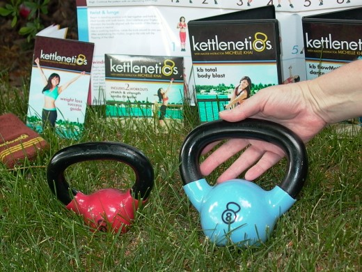 My kettlenetics - this photo includes the standard kettlenetics set as shown on this page & an upgrade set.