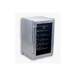 Whynter WC28S SNO 28 Bottle Wine Cooler, Platinum with Lock