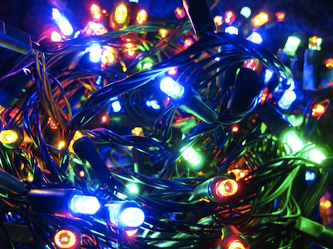 LED holiday light strands