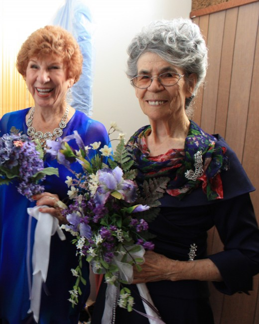 My Mother, Glenda Rucks with her sister, on the right (Esther) at Esther's wedding - 88 years old. She is now 93 years old!