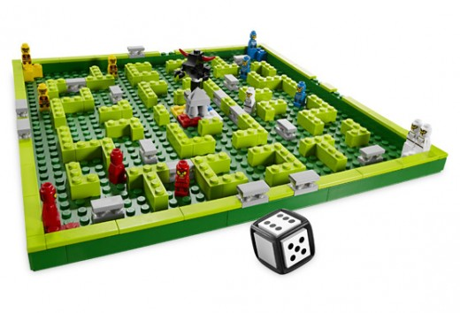 LEGO Minotaurus game board and dice