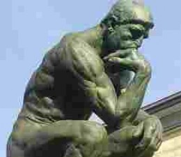 Rodin's Thinking Man...is it too late?