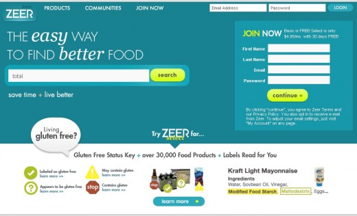 Zeer.com - free product and nutrition information
