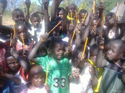 The Pencil Project for African children--provides pencils for the pencil-less! What could be more fun!